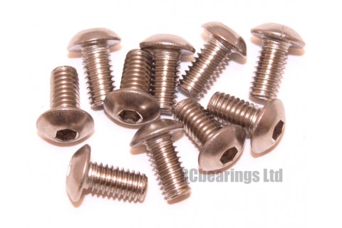 M4x8 Socket Button Stainless Steel Screws x10