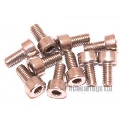 M4x8 Socket Cap Stainless Steel Screws x10