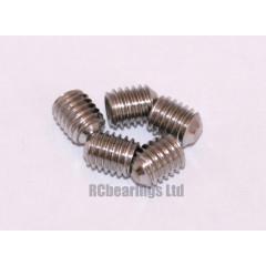 M5x6 Grub Screws Stainless Steel x5