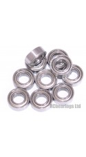 0.188 x 0.375 x 0.125 3/16x3/8x1/8 Metal Shielded Bearing (x1) R166zz