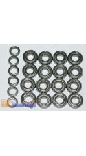 Tamiya 58107 Top Force Evolution Chassis FULL Bearing Kit - RCbearings